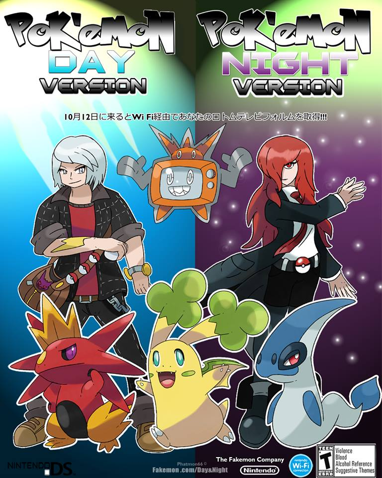 Pokemon Day and Night Promo Page by Phatmon on DeviantArt