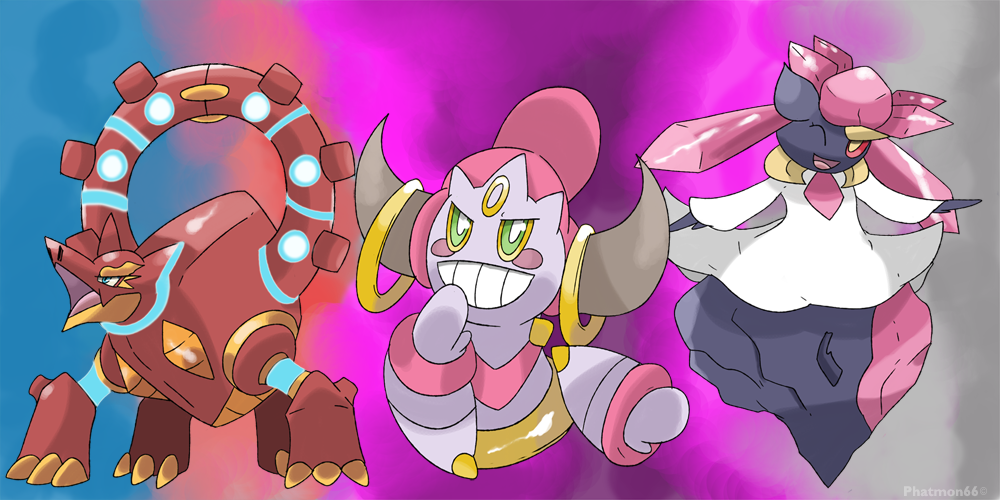 Volcanion Hoopa Diancie legends of Pokemon X and Y by Phatmon on DeviantArt