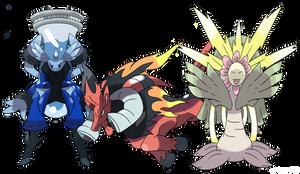 Pokemon Minus and Plus -Starters?