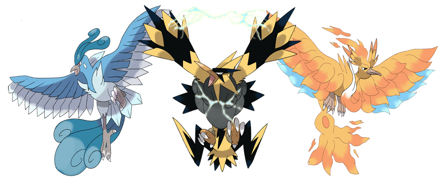 Mega Legendary Birds Mega Articuno  Mega Zapdos and