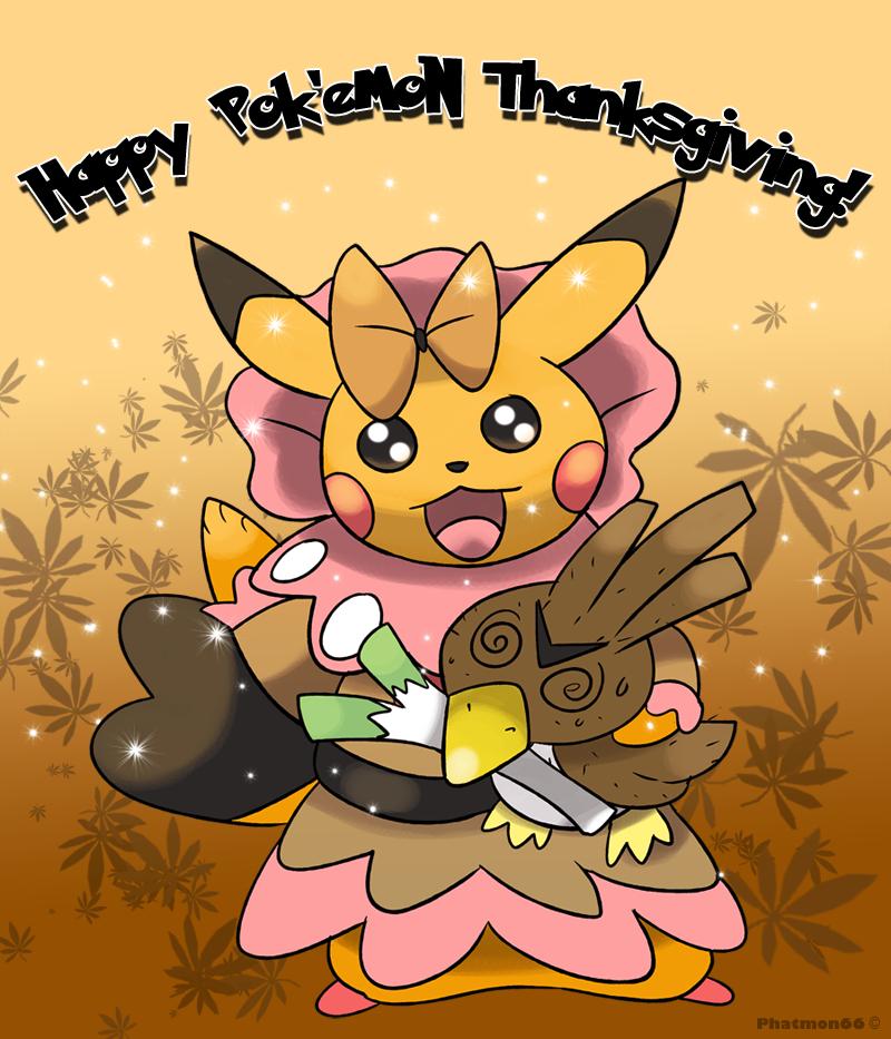 Happy Pokemon Thanksgiving! by Phatmon66