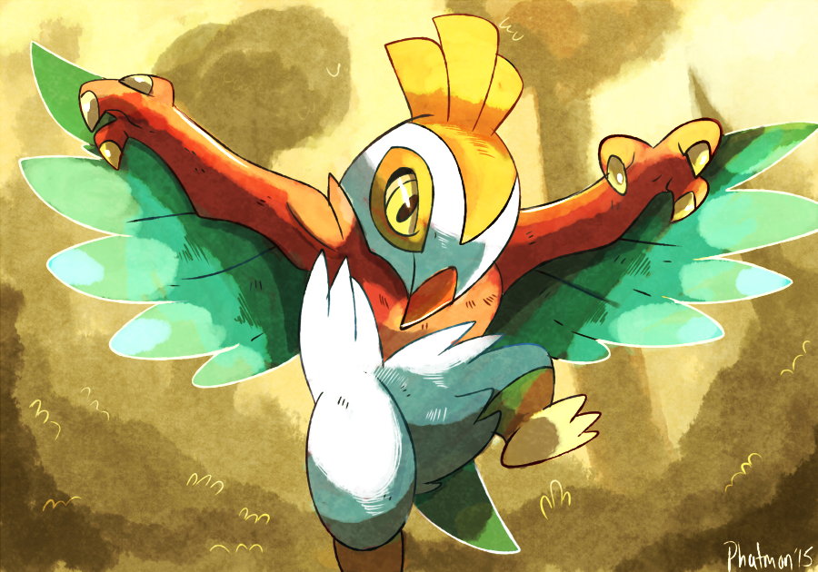 Hawlucha Illustration Practice by Phatmon66