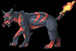 Litten's fake evoultion: Burnther by Phatmon