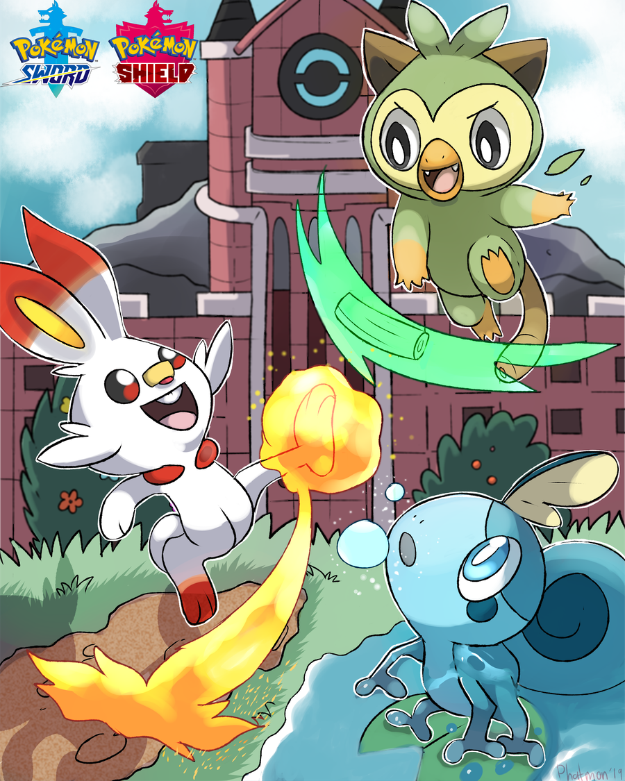 Grookey Scorbunny And Sobble By Phatmon On Deviantart Grookey is one of the starter pokémon available in pokémon sword & shield (releasing late 2019) along with scorbunny and sobble. grookey scorbunny and sobble by