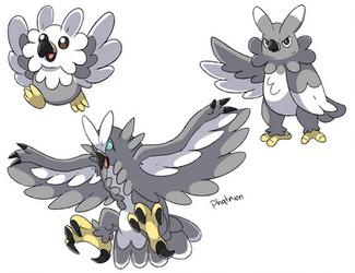 Harpy Eagle Pokemon Concept by Phatmon