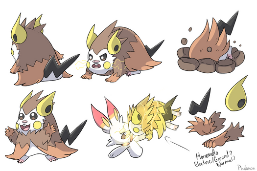 Guinea Pig Pokemon Concept