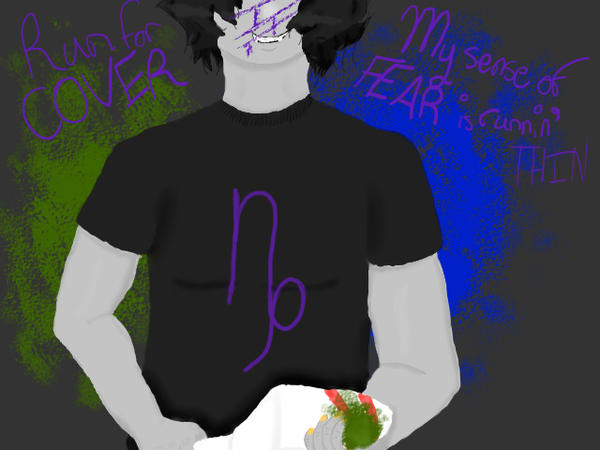 Lyricstuck Panel 1 - Fallen by Imagine Dragons by superstiickers