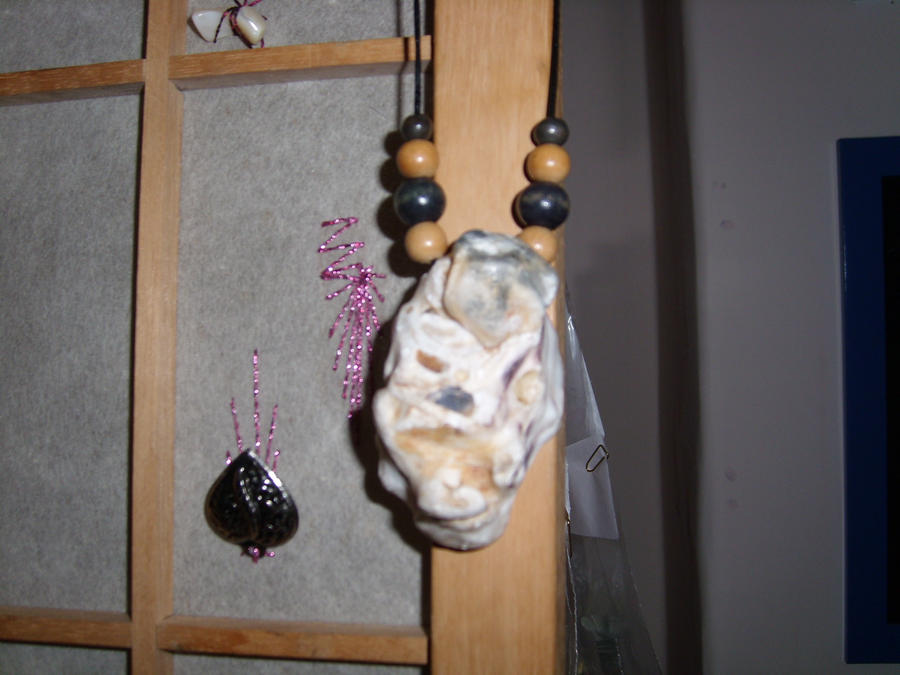 Oyster Shell Necklace by HypotheticalTextiles