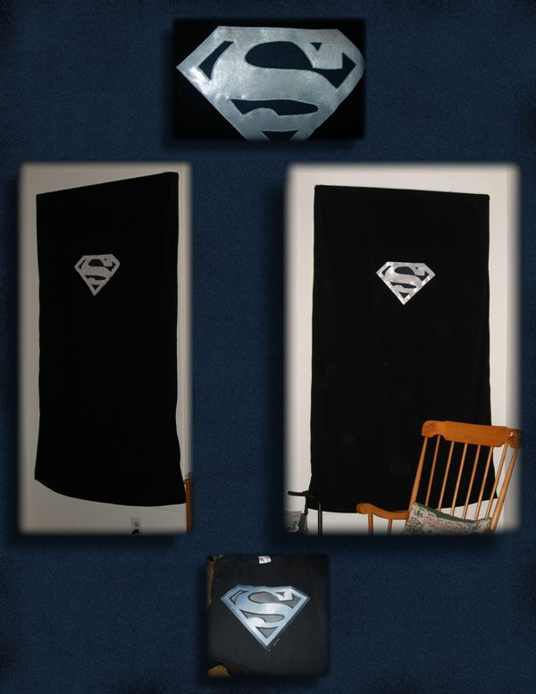 Superman Silver+Black Curtains By UrsulaPatch ...