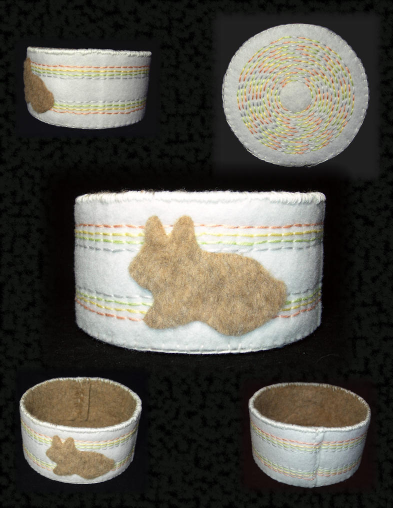 Fuzzy Bunny Basket by UrsulaPatch