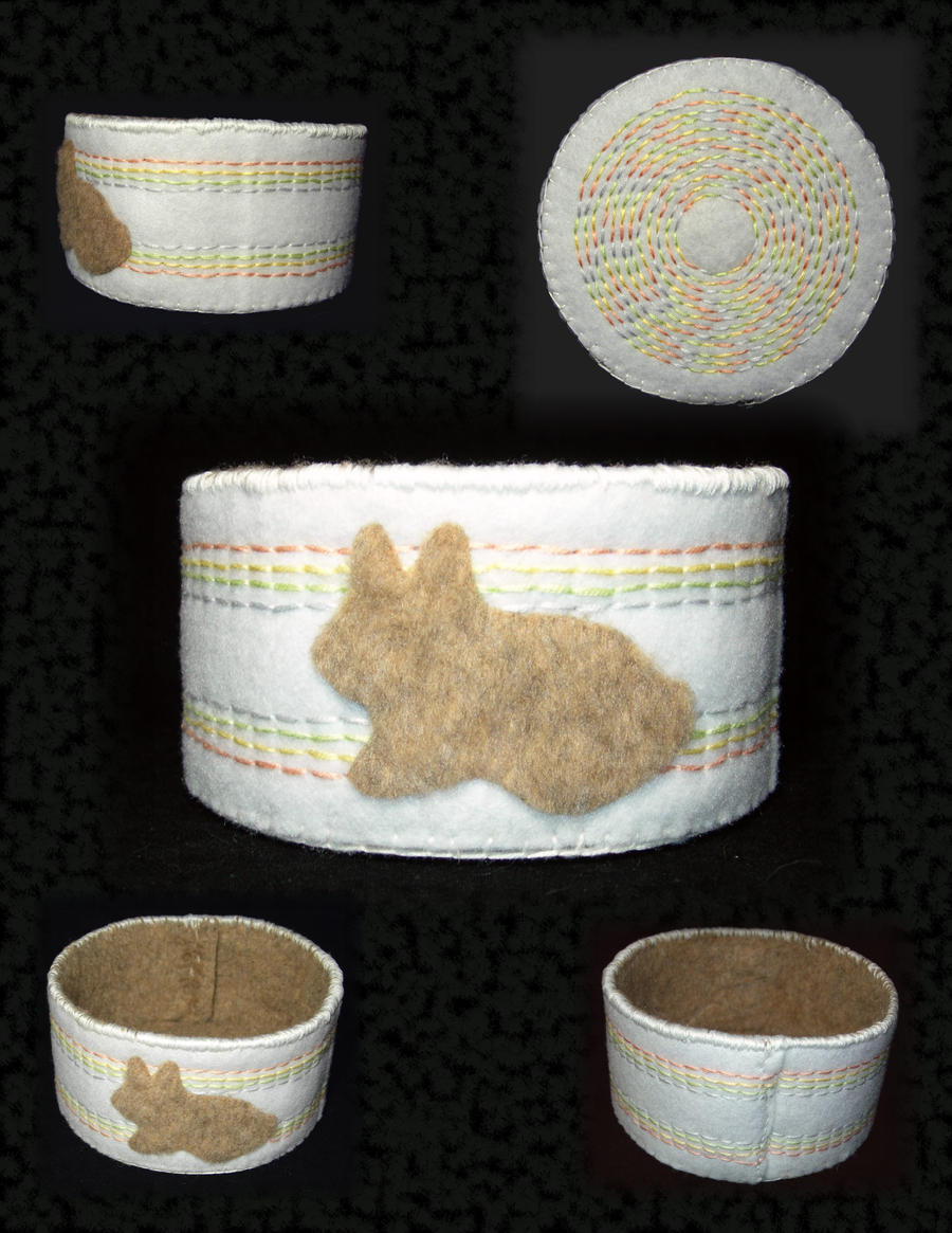 Fuzzy Bunny Basket by UrsulaPatch