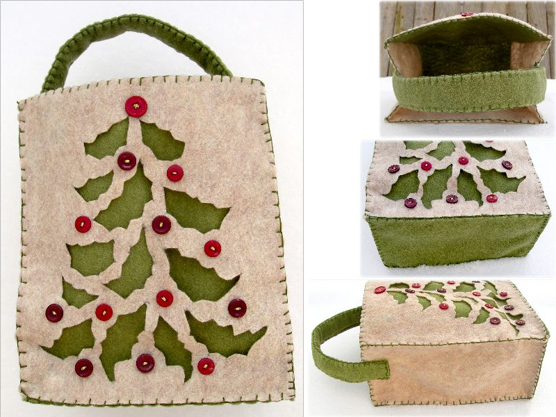 Holly Tree Felt 'Gift Bag' by UrsulaPatch