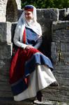 Medieval sleeveless surcote