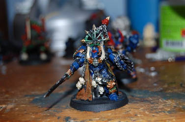 Chaos Lord in Terminator Armor by skyshatter