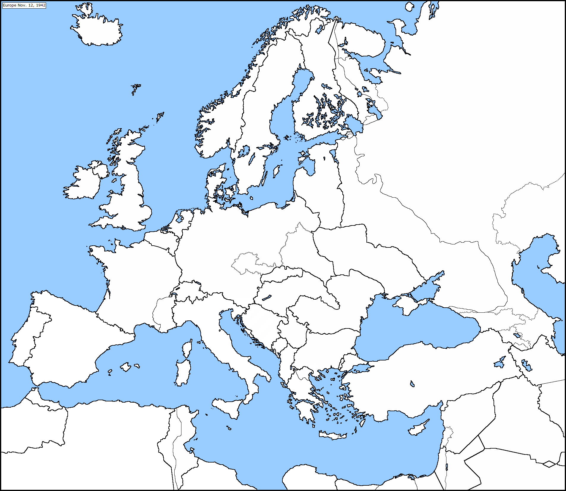 blank map of europe 1942 Blank Europe Map 1942 by CTK Aquila on DeviantArt
