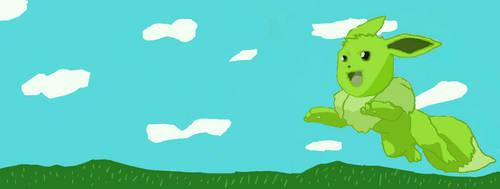 green eevee by deviantstar2