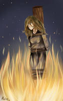 Burned at the Stake by xWhitefangwolf