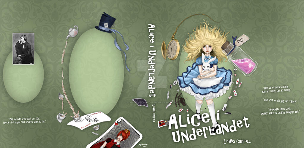Book Cover For School Project : Alice in wonderland book cover school project by