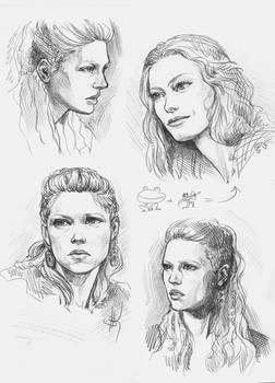 Ladgerda (Ladgertha,Lagertha) and Aslaug