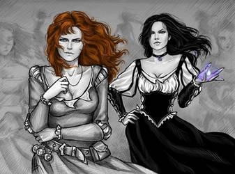 Yennefer and Triss by NastyaSkaya