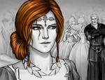 Triss Merigold and Geralt