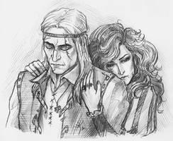 Yennefer and Geralt by NastyaSkaya