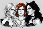 Ciri, Triss and Yennefer