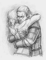 Ciri and Geralt by NastyaSkaya