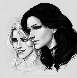 Ciri and Yennefer