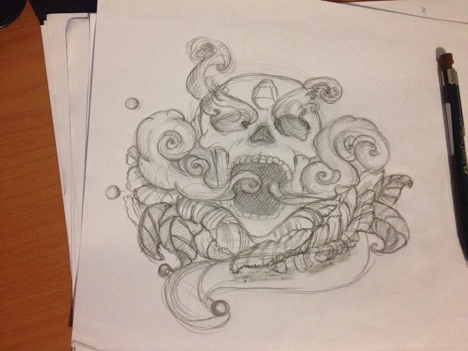 skull design by tonybg