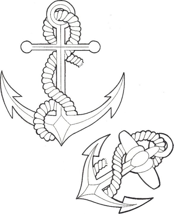 Line Drawing Anchor : Anchors line drawings by richardmullaney on deviantart