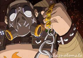 Overwatch fan art: Roadhog by ihasnotomato