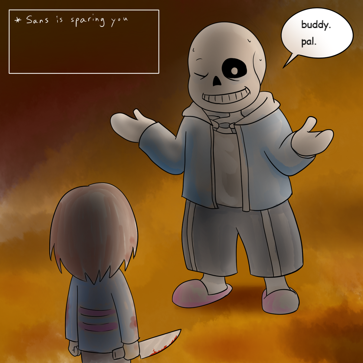Sans is Sparing You by lemurcat on DeviantArt