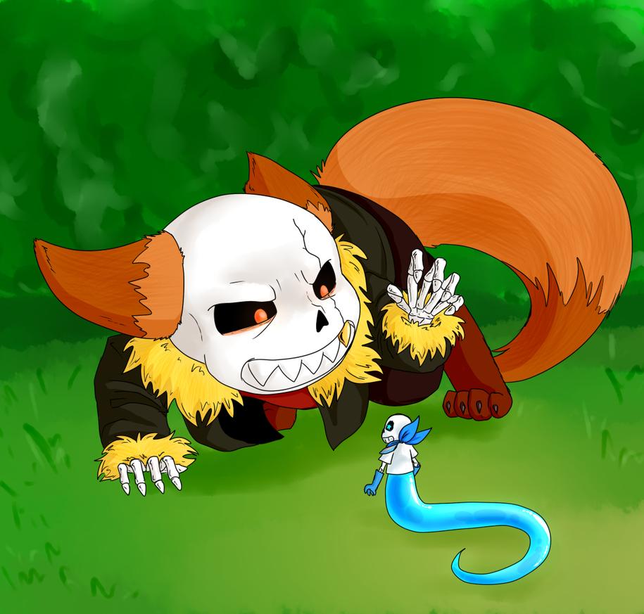Fox Red Blue Snek by lemurcat