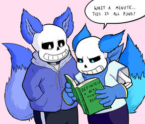 Fox Sans and Blueberry by lemurcat