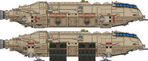 Meteor Class Dropship - First Cylon War by Kelso323
