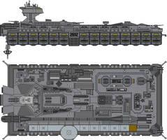 John F Kennedy Class USS Saratoga SCVN-2812 by Kelso323