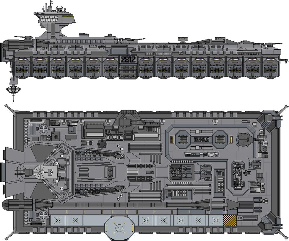 John F Kennedy Class USS Saratoga SCVN 2812 By Kelso323 On DeviantArt