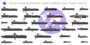 Size Chart - UN IFOR Combined Fleet Combat Vessels by Kelso323