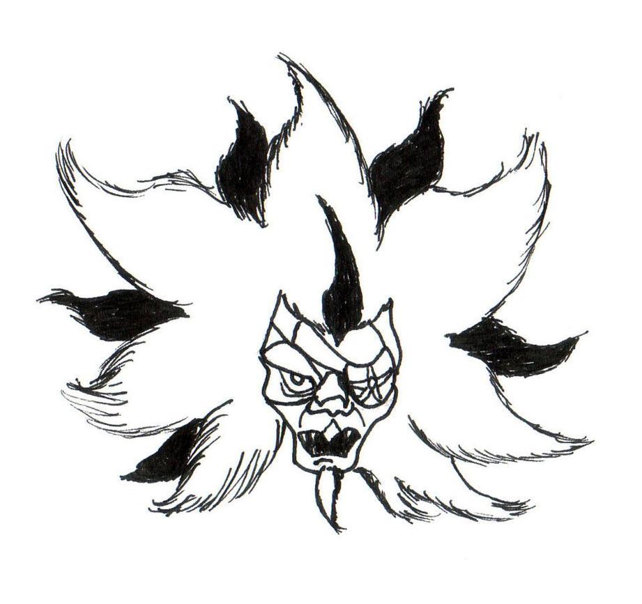 Monstruon head by Xwolf