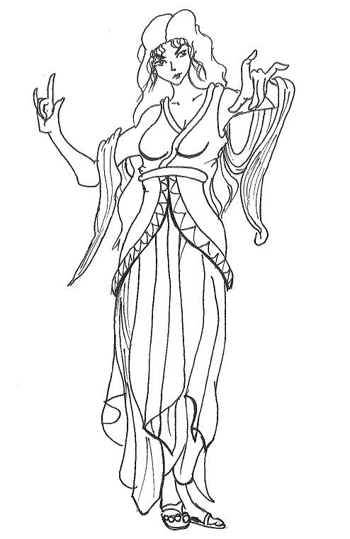 Kemantari, greek warlock by Xwolf