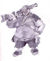 Fat man Prismacolor practice