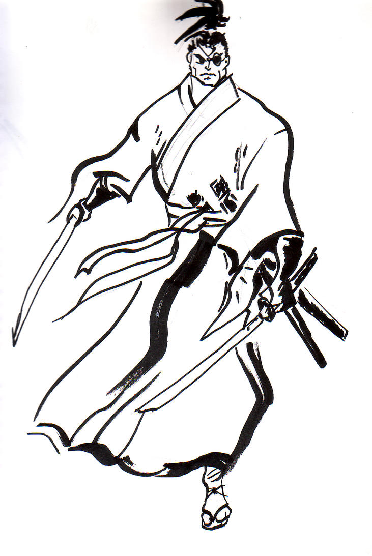 Jubei inking practice by Xwolf
