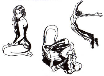 Poses inking practice