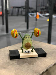 Avocado Weightlifting Amigurumi