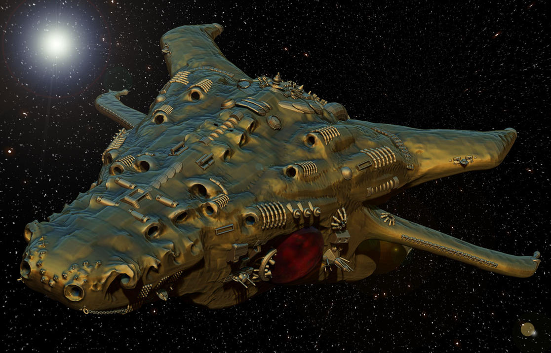 Type Augmented Organic Interstellar Recon Vessel by keenansun