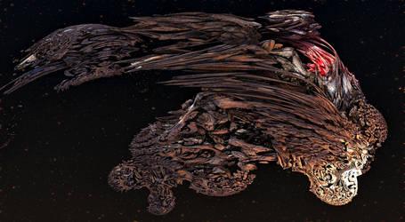 Organic Starship - Dragonhead by keenansun
