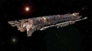 Deep Space Long Haul Mining Freighter