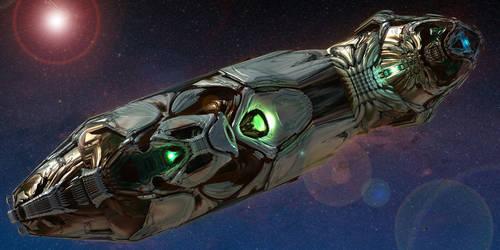 Semi Organic Alien Deep Space Cruiser