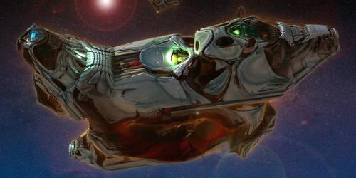 Semi Organic Alien Deep Space Cruiser [view]